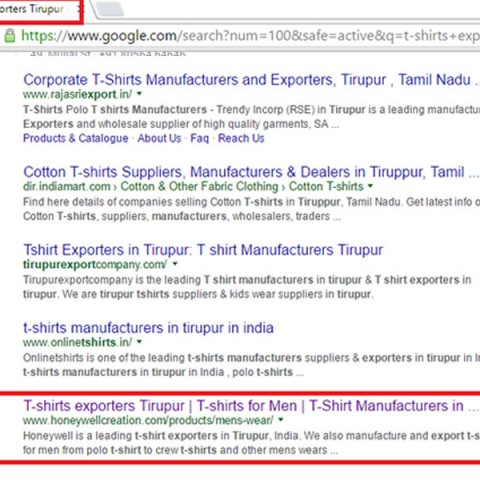t-shirts exporters Tirupur - Honeywell Creation